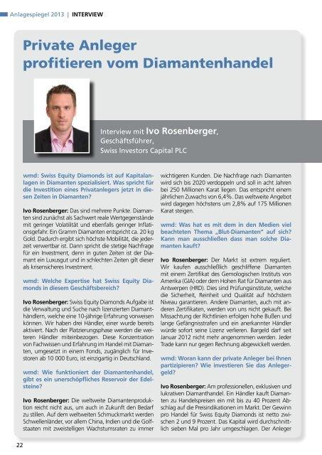 Anlagespiegel 2013 - WMD Brokerchannel
