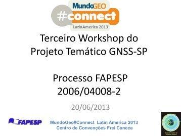 Projeto Temático - MundoGEO#Connect LatinAmerica 2013