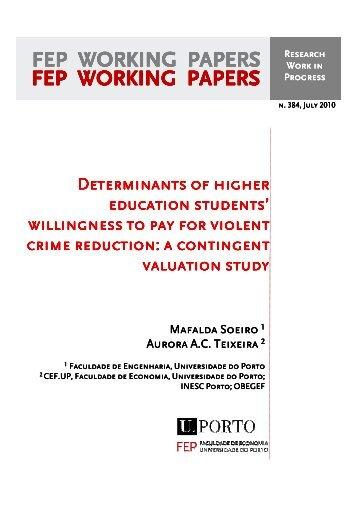 Recent FEP Working Papers - Universidade do Porto