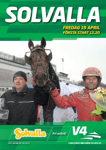 FREDAG 19 APRIL - Solvalla