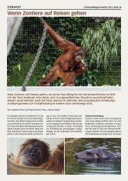 Wenn Zootiere auf Reisen gehen - Birseck Magazin
