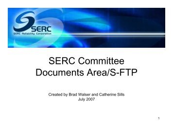 SERC Committee Documents Area S-FTP.pdf - SERC Home Page