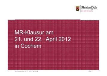 Präsentation PK Klausurtagung - Rheinland-Pfalz