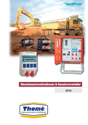 Steckdosenkombinationen & Baustromverteiler ... - Elektro-thome.de