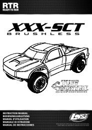 1/10 XXX-SCT Brushless - English - Horizon Hobby