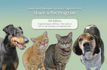 Share-a-Pet Program - Associated Humane Societies