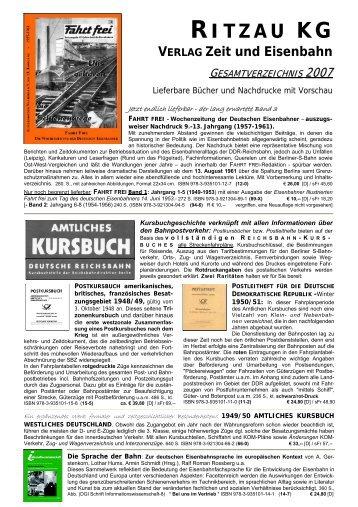 RITZAU KG VERLAG Zeit und Eisenbahn