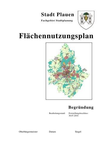 Begründung zum Flächennutzungsplan - Plauen