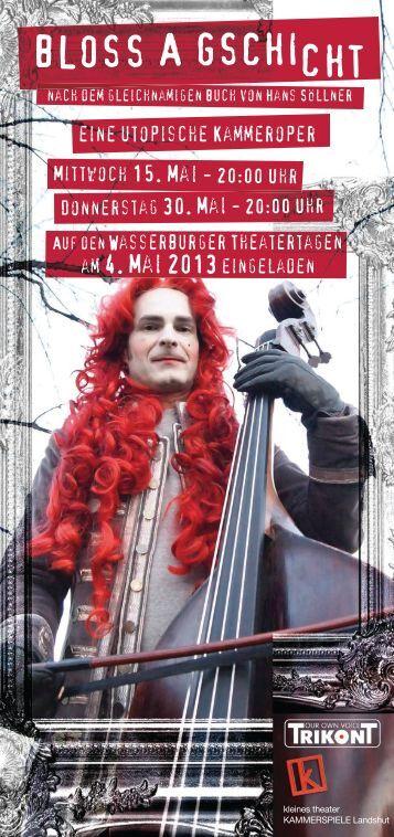 Flyer zum Download - Kleines Theater Kammerspiele Landshut