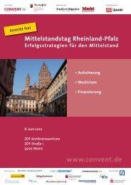 Mittelstandstag Rheinland-Pfalz - Rheinland Pfalz Bank