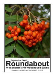 Roundabout Sep 08 - Woodhouse Parish Council