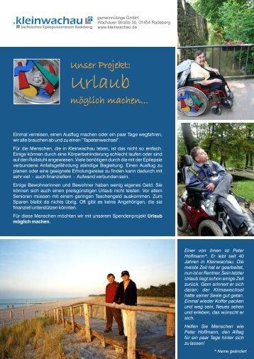 Informationsblatt zum Spendenprojekt als pdf-Datei - Kleinwachau