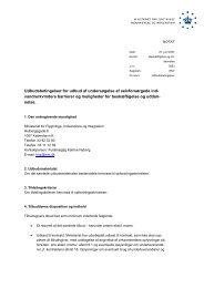 Udbudsbetingelser for udbud af undersøgelse af ... - Ny i Danmark