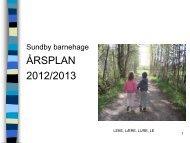 Årsplan 2012-2013 - Bamble kommune