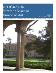 2011Guide to Summer Sessions Financial Aid - UCLA Financial Aid ...