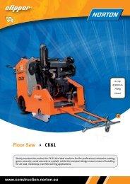 Floor Saw CK61 - Norton Construction Products