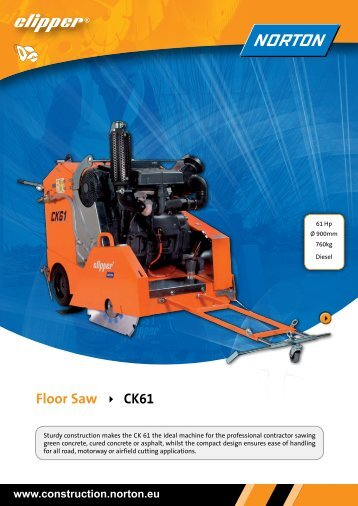 Floor Saw CK61 - Norton Construction Products
