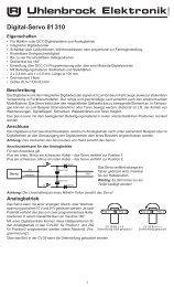 Doehler /& Haass dh16a-2 veicolo decoder con cavo di collegamento per NEM 652