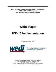 WEDI ICD-10 White Paper Implementation - Iowa Medicaid Enterprise