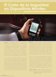 El Costo de la Seguridad en Dispositivos Móviles