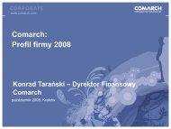 I Konferencji giełdowej (1730,9kB) - Comarch