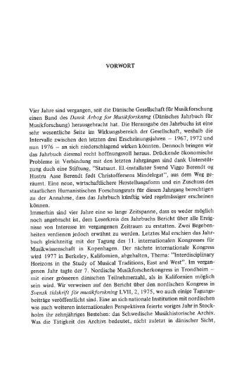 Danish Yearbook of Musicology 7 • 1973-76 / Dansk årbog ... - dym.dk