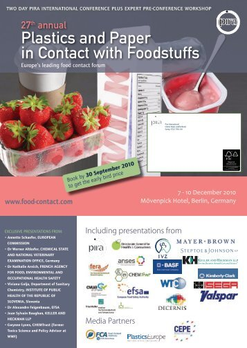 Plastics and Paper in Contact with Foodstuffs - PlasticsEurope