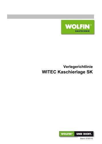 Verlegerichtlinie WITEC Kaschierlage SK