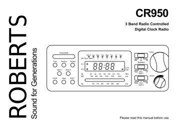 roberts clock radio instructions