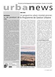 le Programme de Gestion Urbaine - NCCR-NS - EPFL