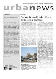 Premier Forum Urbain : Vers le droit à la ville ... - NCCR-NS - EPFL