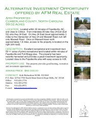 Apex Properties Cumberland County, North ... - LandSaleListings