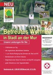 Betreutes Wohnen im Weidenhof - Stadl an der Mur