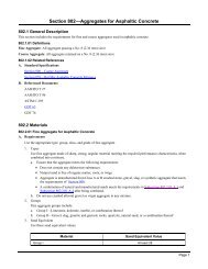 Section 802 Aggregates for Asphaltic Concrete