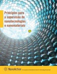 Princípios para a supervisão de nanotecnologias e nanomateriais ...