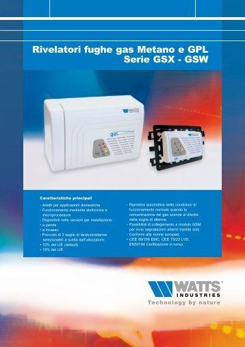 GAS SENTINEL - Rivelatori di fughe gas Metano e ... - Watts Industries