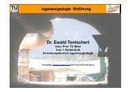 Dr. Ewald Tentschert - Forschungsbereich für Ingenieurgeologie