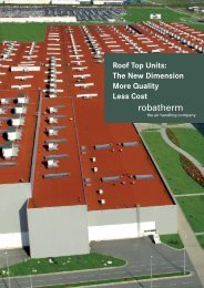 Roof Top Units: The New Dimension More Quality Less ... - robatherm