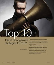 Top 10 talent management strategies for 2012 - WICPA