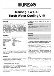 Transtig T.W.C.U. Torch Water Cooling Unit - Murex