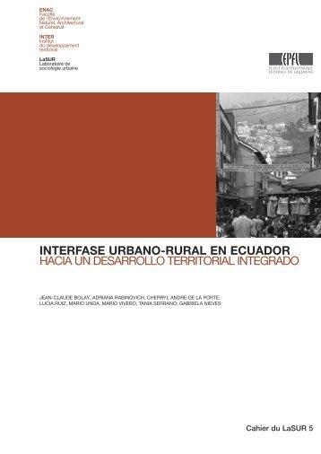 interfase urbano-rural en ecuador hacia un desarrollo territorial ...