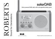 solarDAB issue 1.indd - Roberts Radio