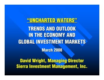 """UNCHARTED WATERS"" TRENDS AND OUTLOOK IN THE ..."