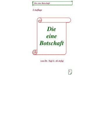 Die eine Botschaft - PDF - Way to Allah