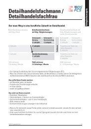 Detailhandelsfachleute - Bildung Detailhandel Schweiz (BDS)