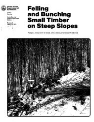 Felling and bunching small timber on steep slopes. - Woodweb