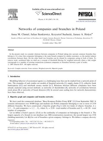 Networks of companies and branches in Poland