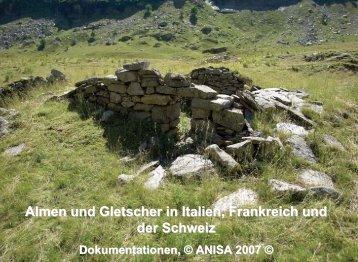 Almen in den Alpen
