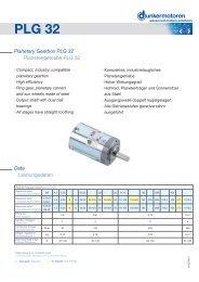 Planetary Gearbox PLG 32 - Dunkermotoren