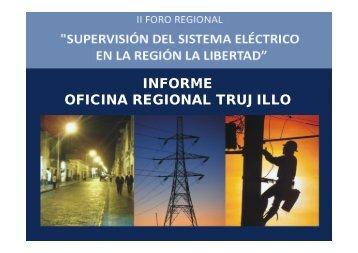 Supervisión del sistema eléctrico en la Región La Libertad